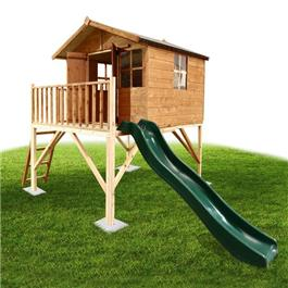 Treehouse with Slide - Outdoor Toys Direct
