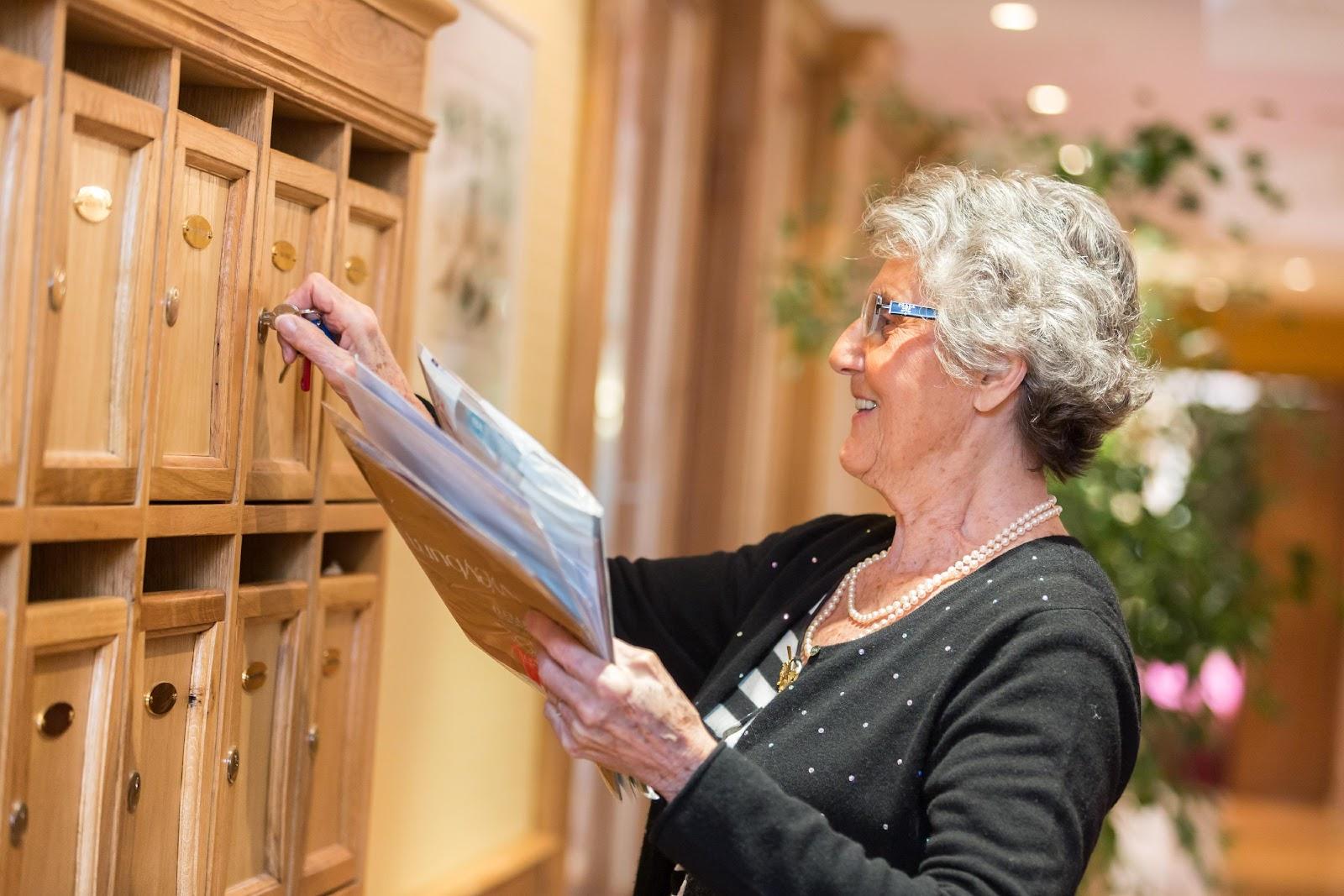 Appartement en résidence senior, boite aux lettres individuelles