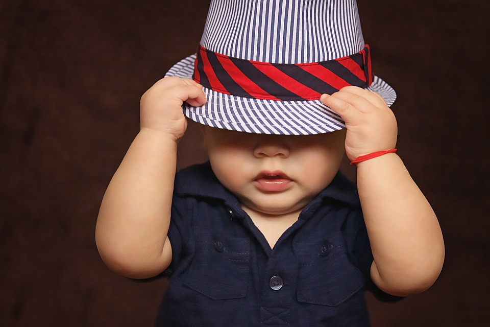 Baby, Boy, Hat, Covered, Eyes, Child, Baby Boy, Kid