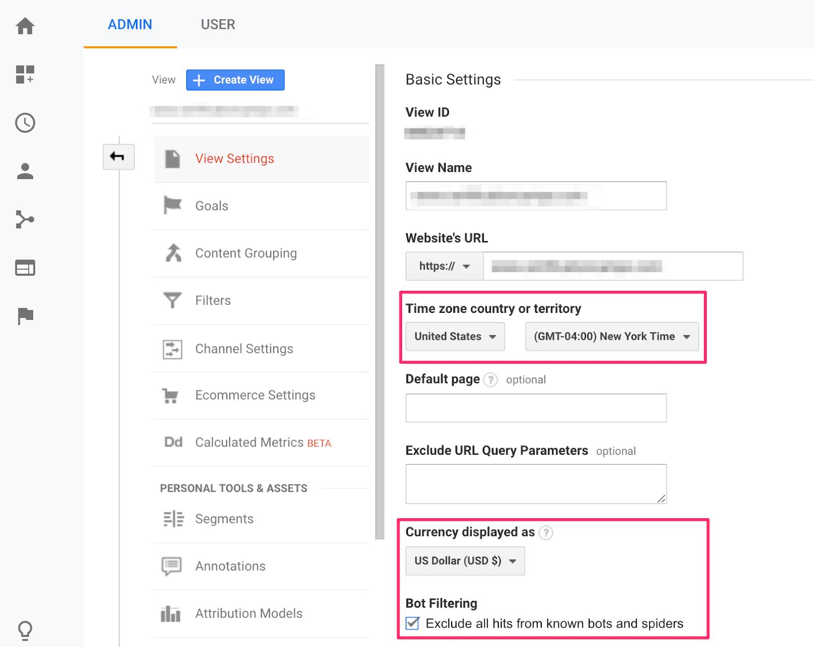 การตั้งค่าพื้นฐานของ Google Analytics