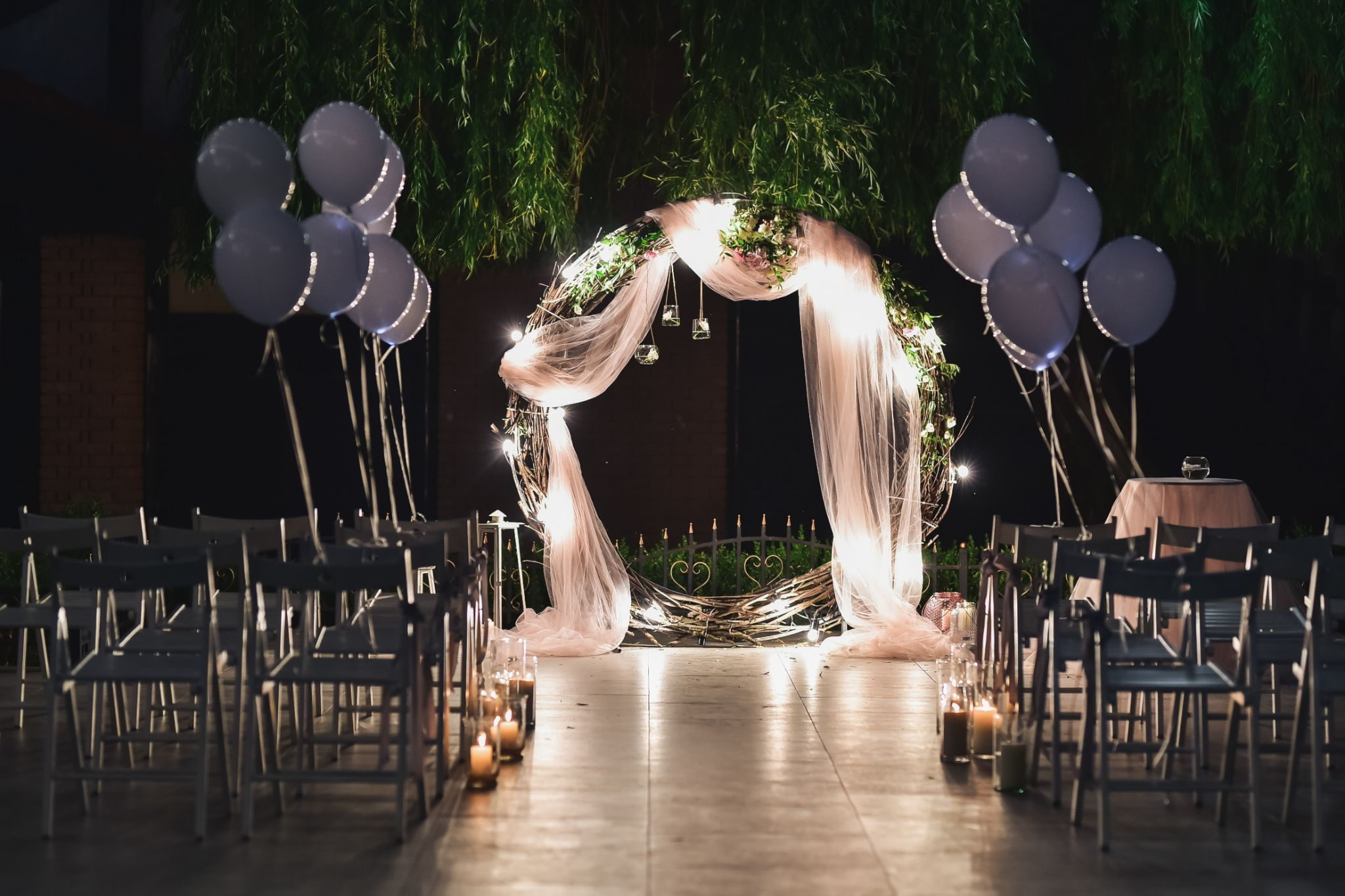 A work of an event planning company