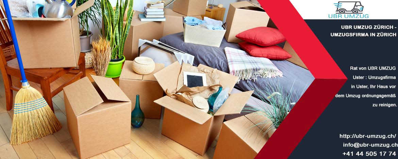 Rat von UBR UMZUG Uster : Umzugsfirma in Uster, Ihr Haus vor dem Umzug ordnungsgemäß zu reinigen.