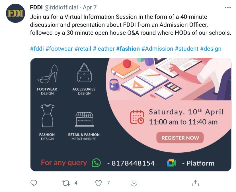 FDDI official virtual info session