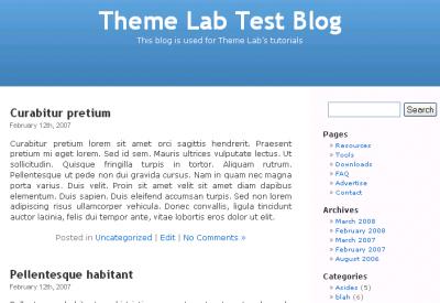 WordPress Posts Page