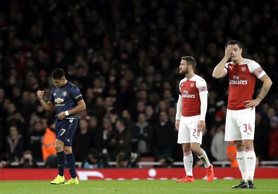 Image result for Arsenal lost against man u