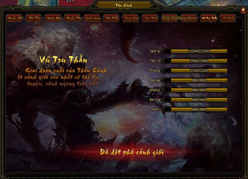 Tâm Cảnh | Webgame Khoa Huyễn Cửu Tinh Vô Song | 360game.vn