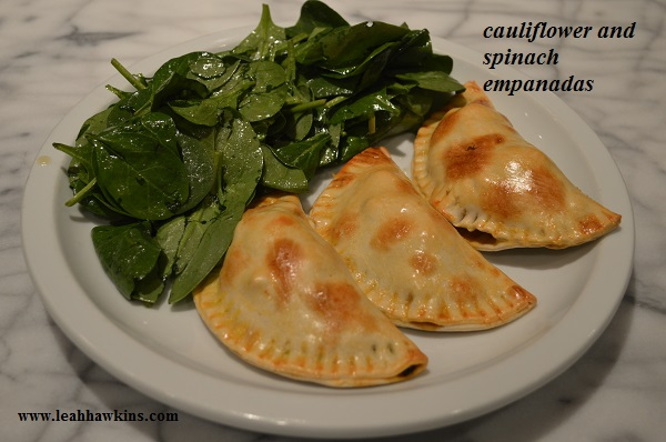 cauliflower and spinach empanadas, from plated