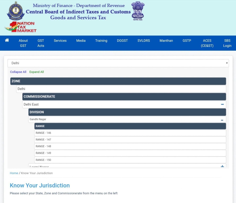 check state GST jurisdiction