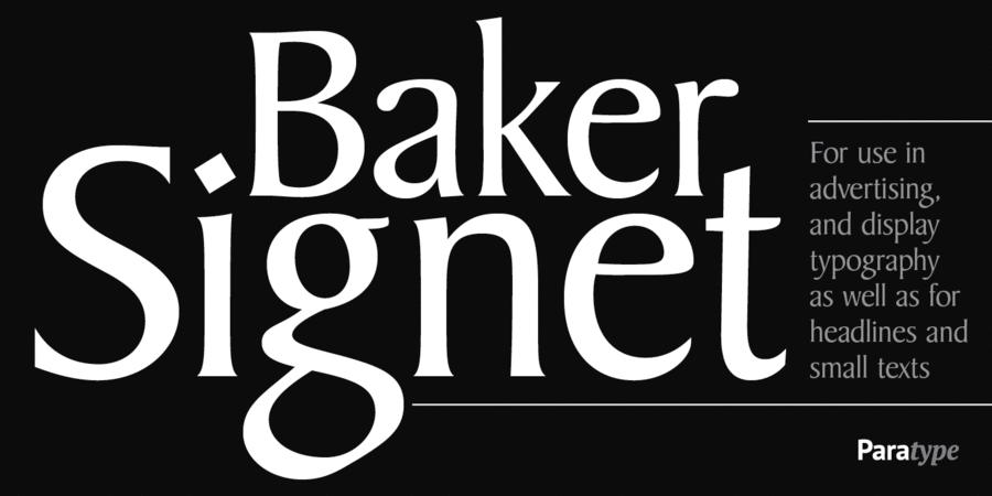 Шрифт Baker Signet