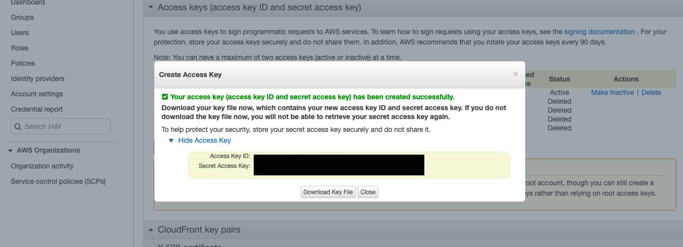 Show Access Key