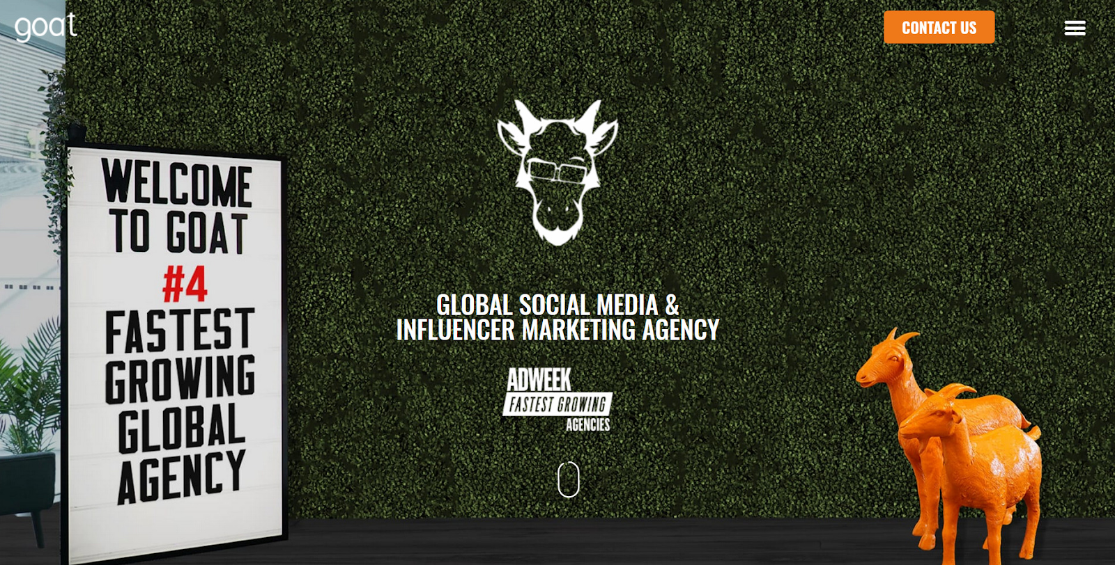 The Goat. Top influencer marketing agency 2021