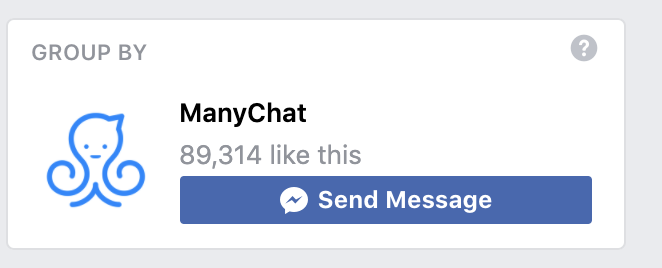 ManyChat community on Facebook