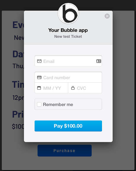 Stripe credit card payment form