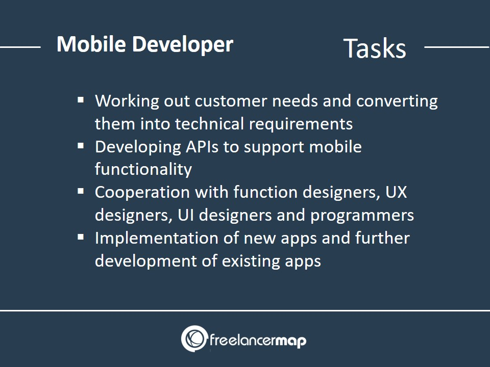 Tasks and responsibilities of a mobile developer