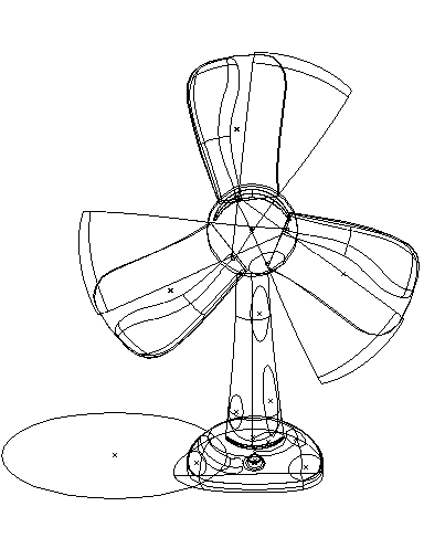 Electric Fan Vector Outline