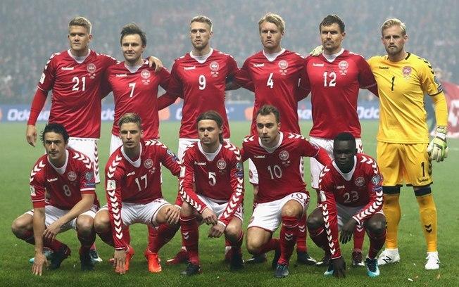 A seleção da Dinamarca que disputou as Eliminatórias da Copa contra a irlanda