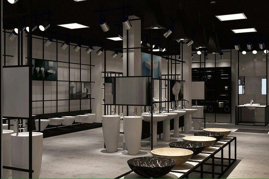 Sơn hiệu ứng Waldo-Các showroom sử dụng kệ gỗ trang trí