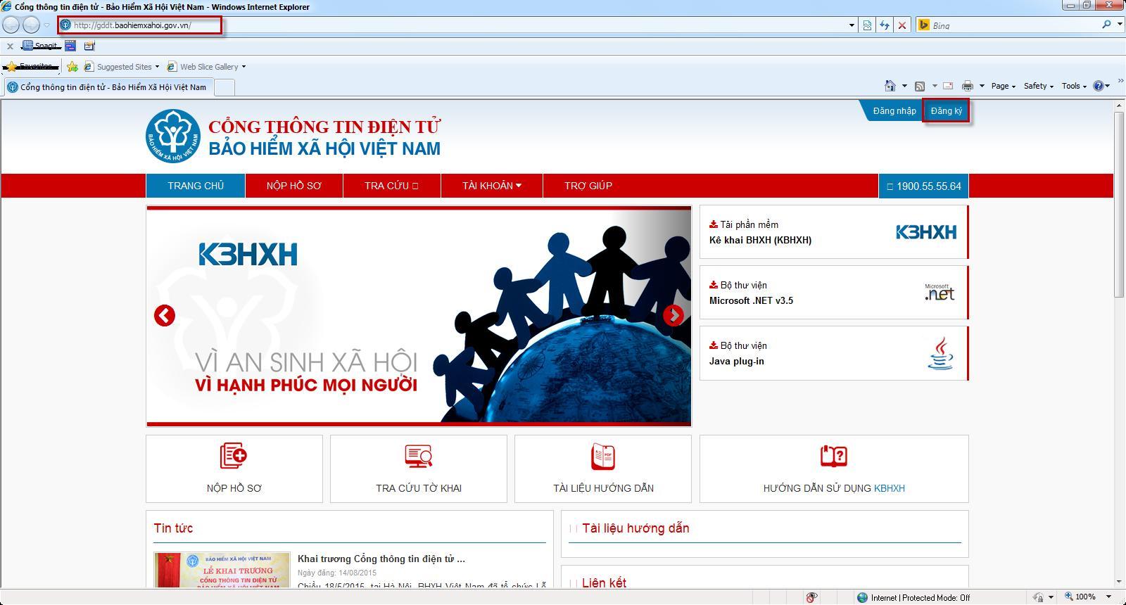 Đăng ký tài khoản giao dịch BHXH điện tử