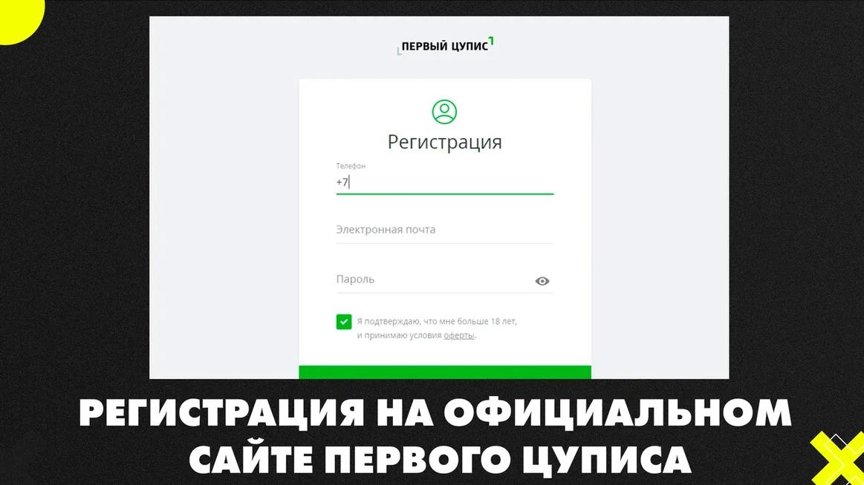 Регистрация на официальном сайте Первого ЦУПИСа