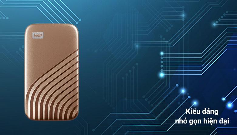 Ổ cứng HDD WD Blue 4TB SATA3 5400rpm (WD40EZAZ) | Kiểu dáng nhỏ gọn hiện đại