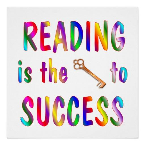 reading is the key to success image
