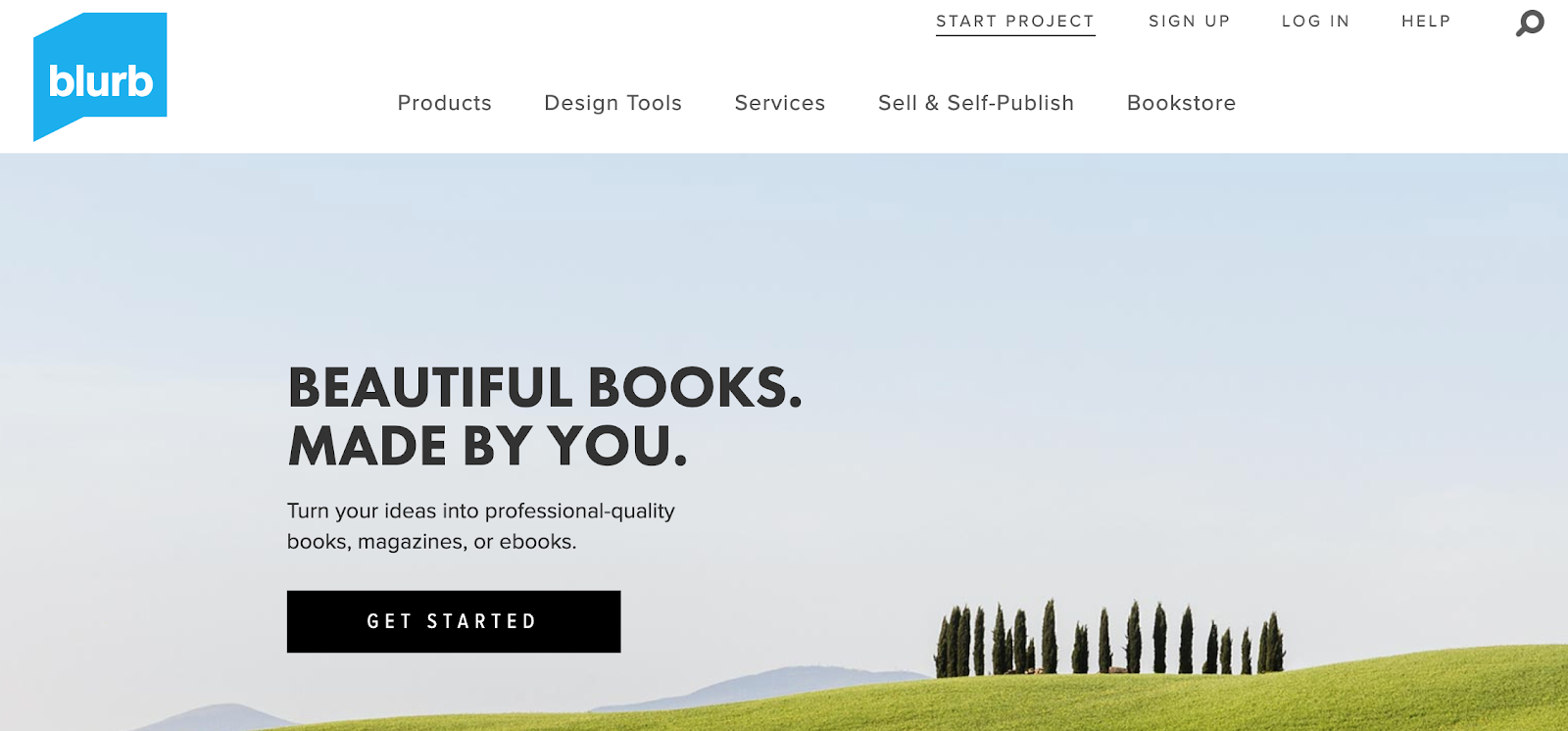 Blurb – book design software for authors and content marketers.