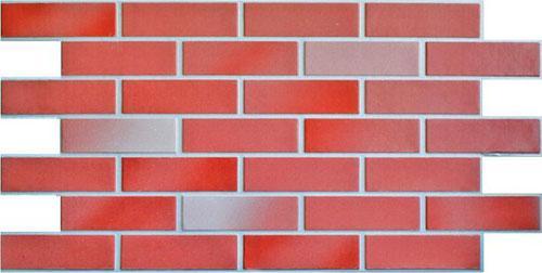 Красная фасадная панель под кирпич