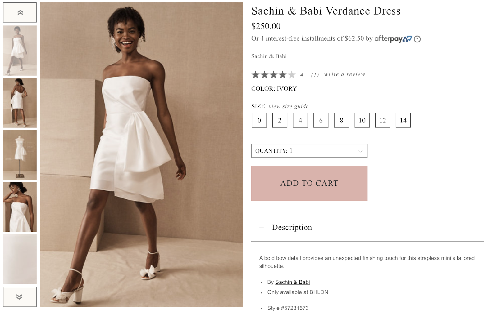 Short Wedding Dresses from BHDLN, wedding attire