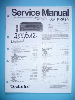 Technics sa ex500 e eb eg sm 1 service manual download, schematics.