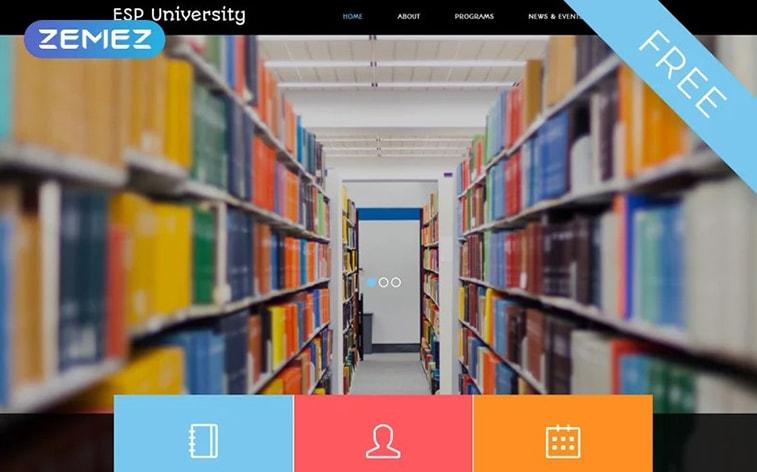 лучший бесплатный шаблон темы ботстрапа веб-сайт образование университет платформа электронного обучения школа