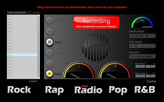 Recording Studio Bz Chrome Web Store