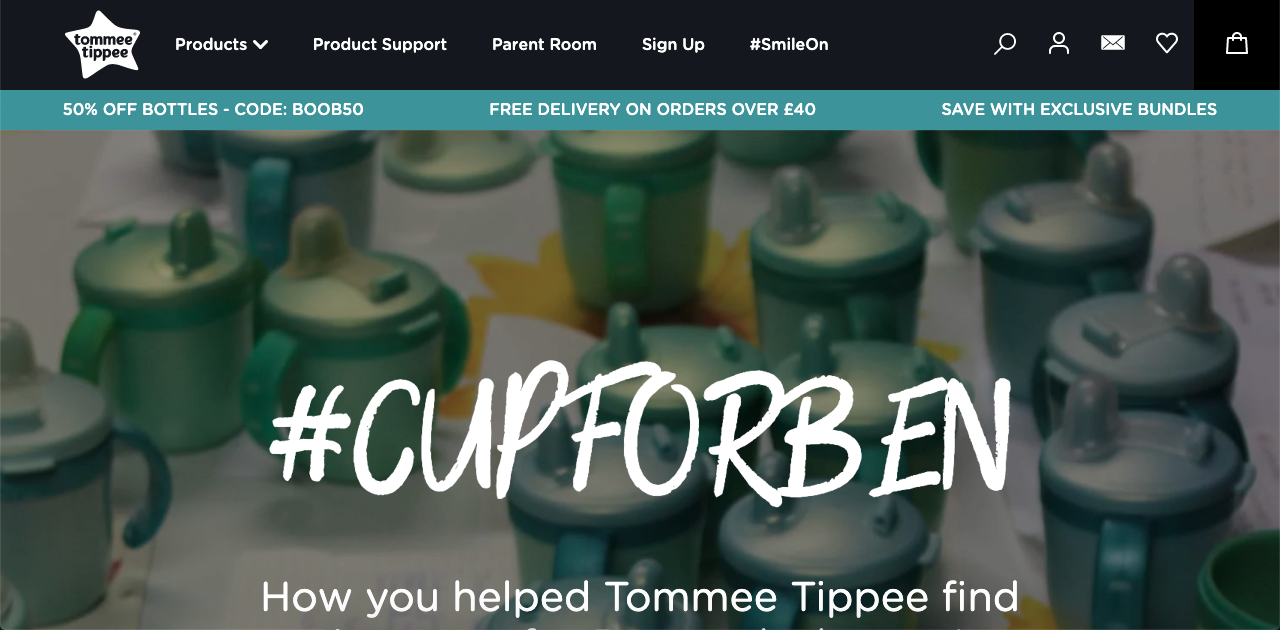 Tommee Tippee took a chance to help a customer to the next level by making 500 cups for him.
