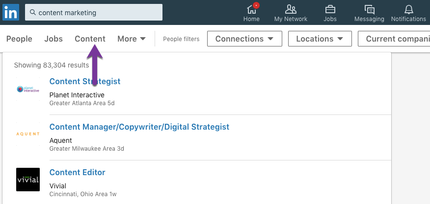 How to search for keywords on LinkedIn