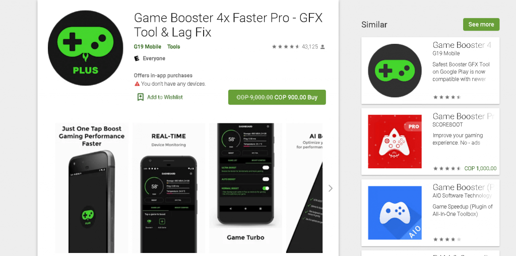 تحميل Game Booster 4x Faster Pro
