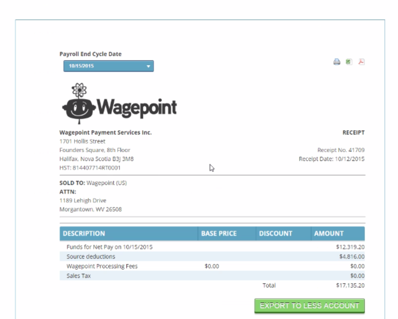 Knowledge base – Payroll Invoice