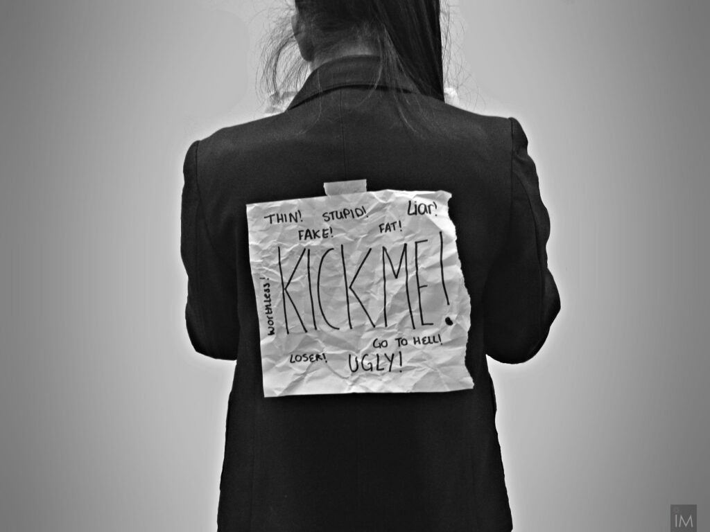 THe back of a girl, who