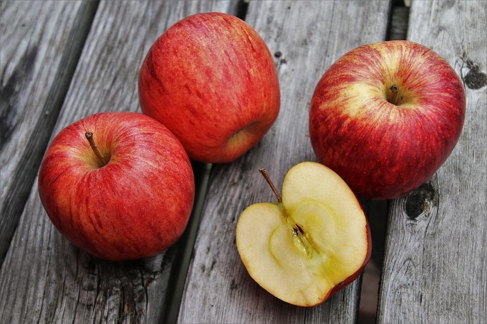 Red, Maçãs, Alimentos, Vitaminas, Frutas, Apple
