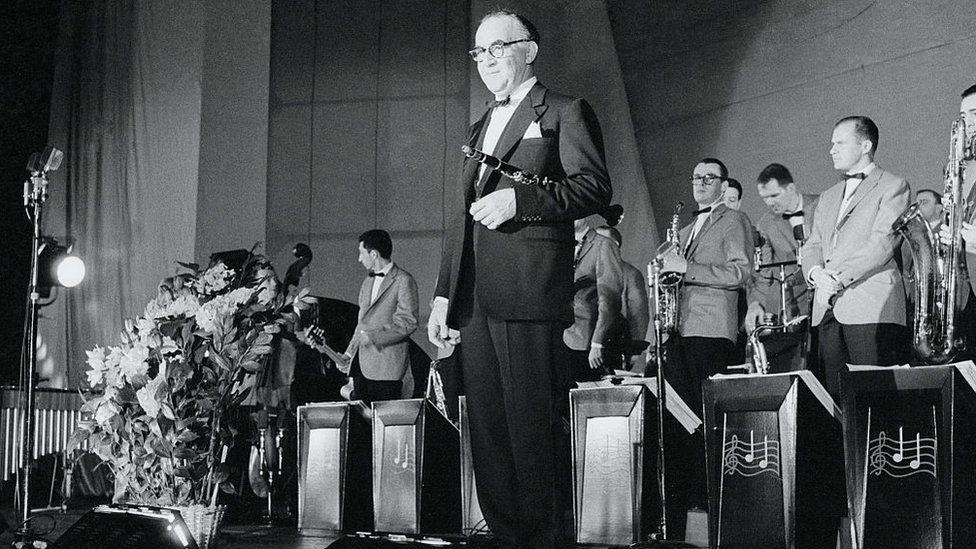 """Бенни Гудман - первый """"посол американского джаза"""" в СССР. Концерт в Москве 1 июня 1962 г."""