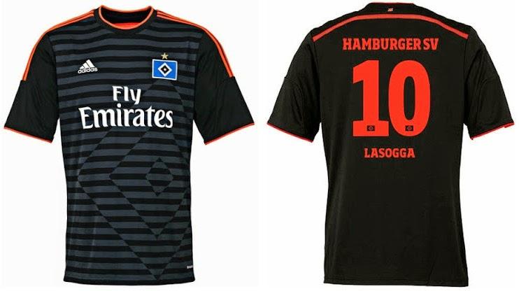 the new adidas kits of Hamburg HSV 2015-16
