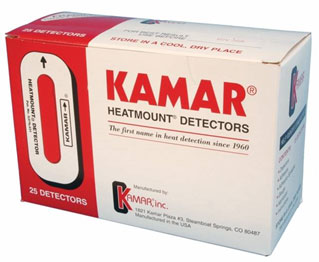 Commercially available Kamar estrus detector for cattle.