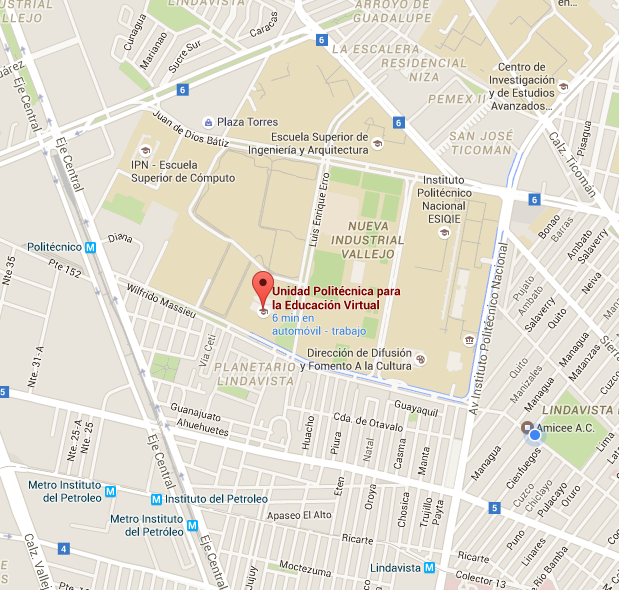 Mapa de ubicación de la UPEV