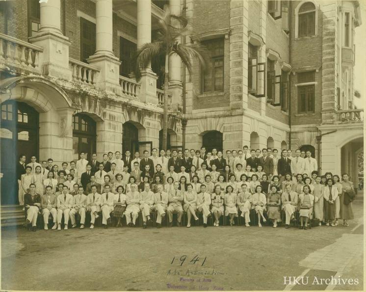1941年文學院師生合照。(圖片來源:HKU)