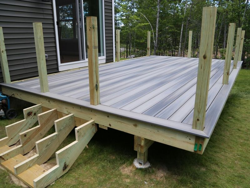 installing decking with posts