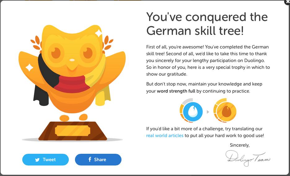 Duolingo can get certificates