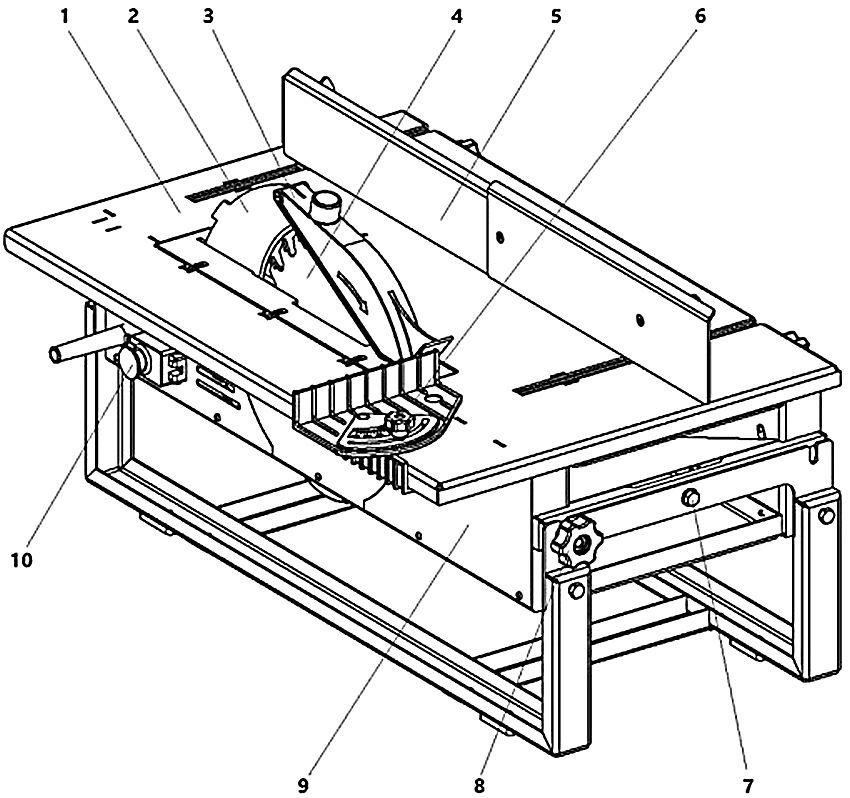 Чертеж конструкции стола