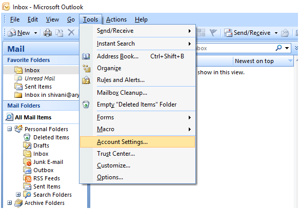 error 0x800ccc0e in Outlook