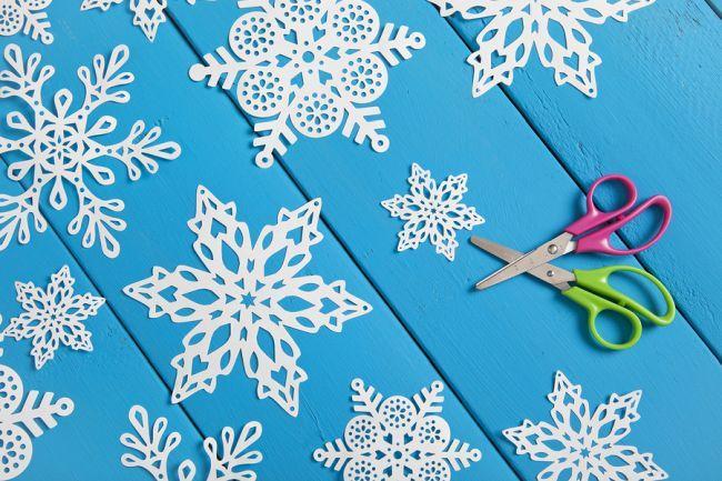 Красивые снежинки из бумаги: схемы из старинной книги