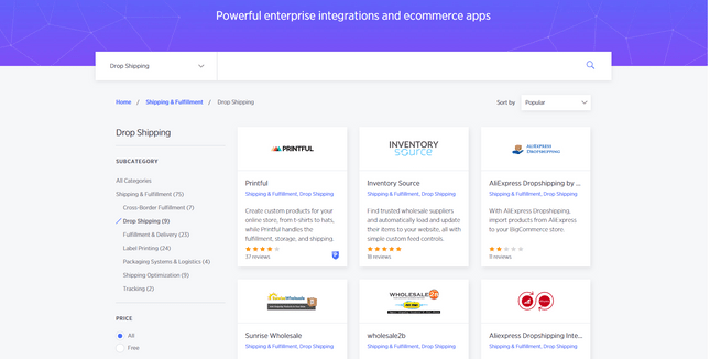 bigcommerce dropshipping apps
