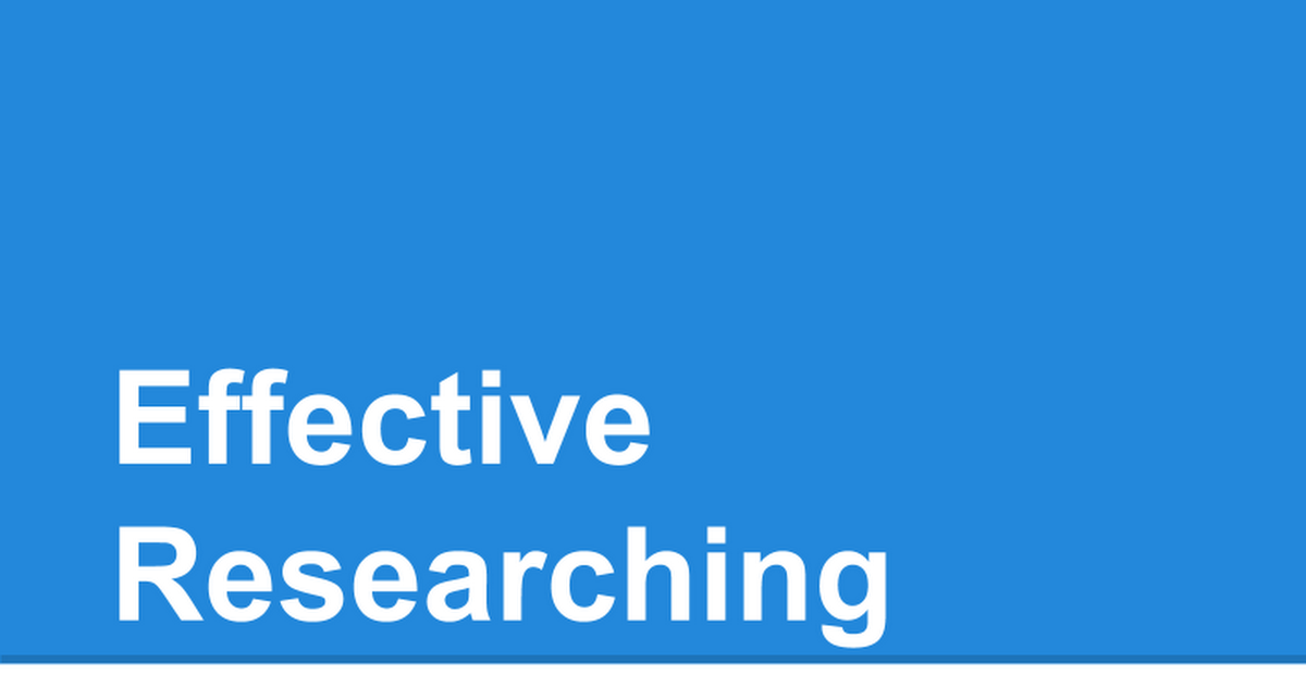 Effective (re)Search Strategies cover image