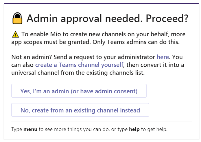 Log in with your admin account to unlock more Mio features